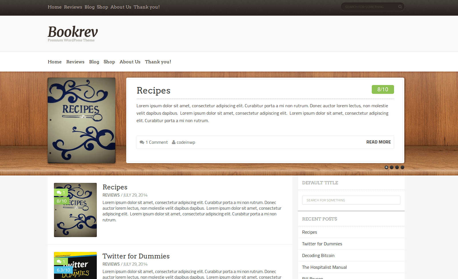 Tema WordPress Gratis Bookrev-lite